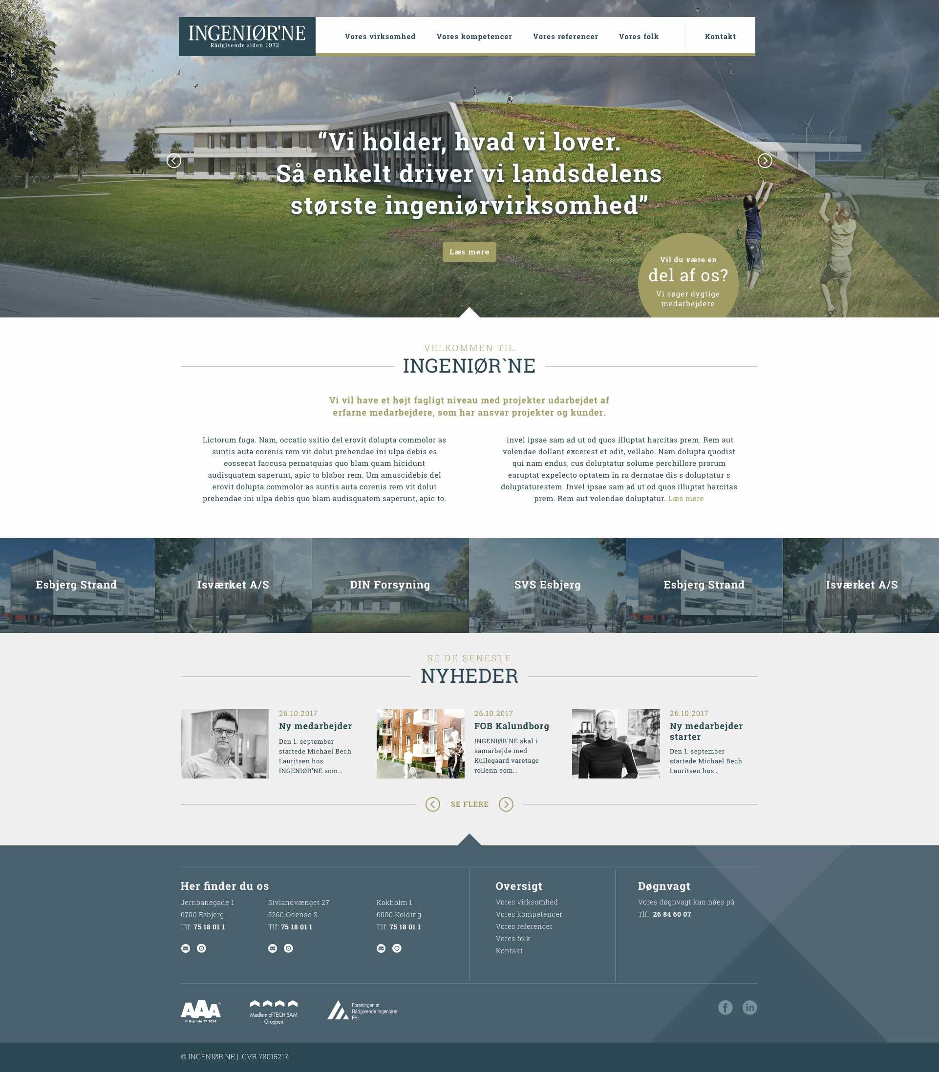 Design og rådgivning ved ny hjemmeside